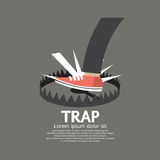 Foot Stepped On Trap. Vector Illustration Stock Photos