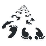 Foot Steps. Walking process. Vector illustration Royalty Free Stock Image