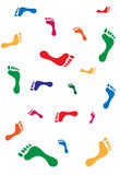Foot steps. Vector illustrated human foot steps silhouettes Stock Images