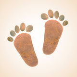 Foot stones Stock Images