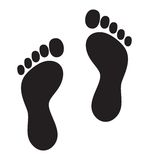 Foot symbol - foot print lgbt flag Royalty Free Stock Image