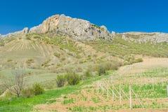 Foot of Taraktash range in Crimean mountains Stock Photography