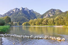 At the foot of the Three Crowns Mountains, Poland Stock Image