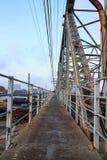 Foot traffic on bridge Stock Photos