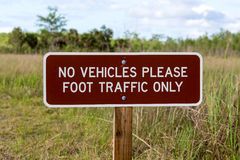Foot Traffic Only sign Stock Photo