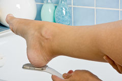 Foot treatment Stock Images