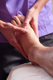Foot treatment Royalty Free Stock Images