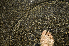 Foot under water Stock Photography