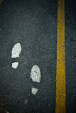 Foot walk on road Stock Image