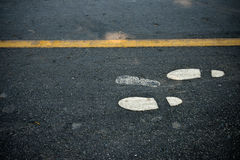 Foot walk on road Royalty Free Stock Photography