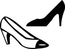 Foot ware. Illustration drawing of a foot ware on withe background Royalty Free Stock Photography