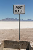 Foot wash on the Bonneville Salt Flats Royalty Free Stock Photos