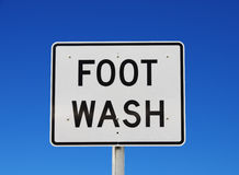 Foot Wash Sign Royalty Free Stock Image
