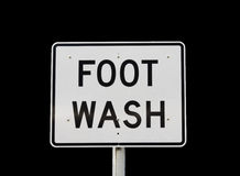 Foot Wash Sign Royalty Free Stock Photos