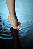 Foot in water Royalty Free Stock Photos