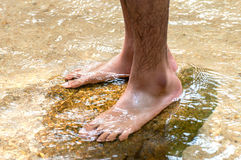 Foot in water Royalty Free Stock Image