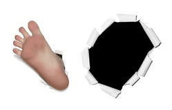 Foot on the white background Royalty Free Stock Photos