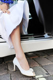 Foot  in  white shoe Stock Images
