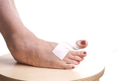 Free Foot With Therapeutic Self Adhesive Tape Stock Photos - 53257613