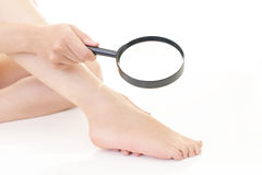 Foot of young woman Stock Photo