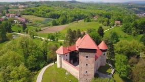 Dubovac castle, Croatia. Footage of beautiful fantasy castle called Dubovac near town Karlovac in Croatia