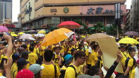 Footage Bersih4 Rally day 2, Malaysia stock video footage