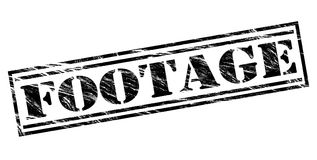 Footage black stamp. Isolated on white background Stock Photography