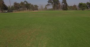 Empty baseball field stock video