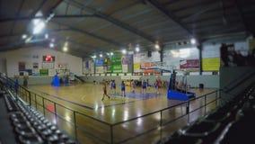 Basketball Match Miniature Tilt Shift stock video footage