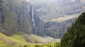 Gavarnie waterfall stock video