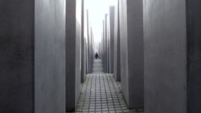 Footage from Holocaust Memorial Berlin Germany Memorial to the Murdered Jews of Europe stock video footage
