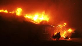 Footage Of House On Fire stock footage