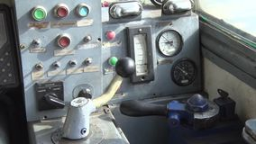 An old dashboard for the Ship. This is footage of An old dashboard for the Ship stock footage