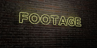 FOOTAGE -Realistic Neon Sign on Brick Wall background - 3D rendered royalty free stock image. Can be used for online banner ads and direct mailers Royalty Free Stock Photos