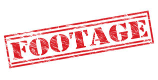 Footage red stamp. Isolated on white background Stock Images