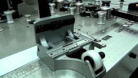 Retro machine cutter for movie film without a film movie. This is footage of retro machine cutter for movie film without a film movie stock video footage
