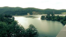 Serbian lake and beautiful landscape. This is footage of Serbian lake and beautiful landscape stock video