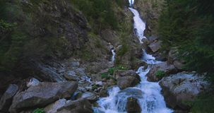 Waterfall. Footage of stones and waterfall stock video footage