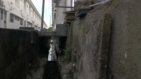 Street environment of the drainage system by the roadside.
