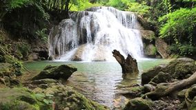 Footage tourist attractions Huai Mae Kamin waterfall, stock video