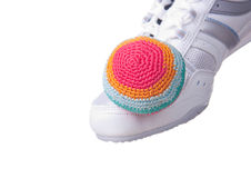 Footbag. Royalty Free Stock Photo