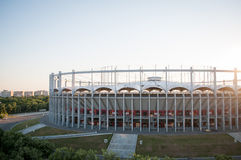 Footbal arena. Bucharest national arena in the muncii residential district Royalty Free Stock Photos