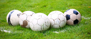 Football balls Royalty Free Stock Photography