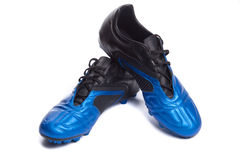 Footbal boots. Soccer boots. Isolated on white Royalty Free Stock Photography