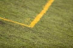 Footbal field. Detail of the footbal field Royalty Free Stock Image