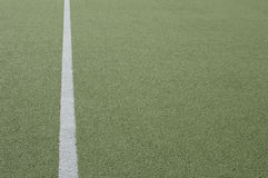 Footbal field and vertical white line Stock Photo