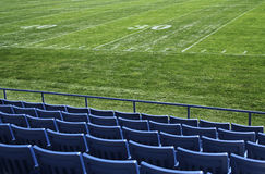 Footbal field view Stock Images