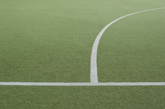 Footbal field and white line Stock Photography