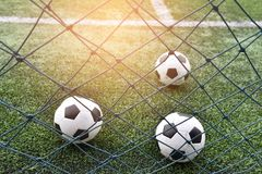 Footbal. Put on grass for l play Royalty Free Stock Images