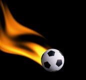 Footbal in fuoco Fotografia Stock
